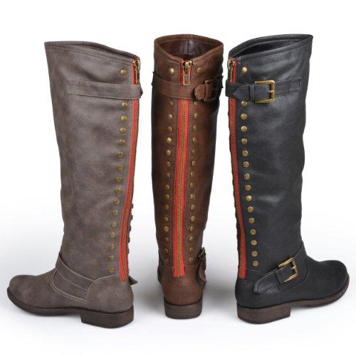 brinley co womens regular and wide calf knee high studded