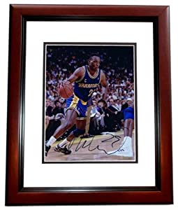 Mitch Ritchmond Autographed Hand Signed Golden State Warriors 8x10 Photo - MAHOGANY... by Real+Deal+Memorabilia