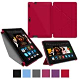"""rooCASE Amazon Kindle Fire HDX 8.9 Case - (2014 Current Generation) Origami Slim Shell 8.9-Inch 8.9"""" Smart Cover with Landscape, Portrait, Typing Stand - RED"""