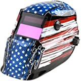 """Lincoln Electric K2934-1 Flag 600S Variable Shade 9-13 Welding Helmet, 3-13/16"""" Width x 1-23/32"""" Height Lens (Pack of 1)"""