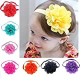 Hatop 8Pcs Baby Girls Flower Headbands Photography Props Headband Accessories