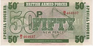 UK - (1972) BRITISH ARMED FORCES SPECIAL VOUCHERS 50 NEW PENCE