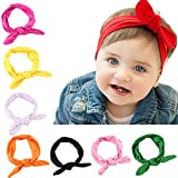 Hip Mall® 8pcs Baby Girls Toddler Bow Headbands Turban Knot Rabbit Hairband Headwear