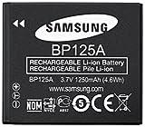 Samsung BP125A, 3.7V, 1250mAh, Black Li-Ion, IA-BP125A (Li-Ion)