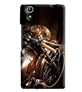 Blue Throat Bike Front Printed Designer Back Cover/Case For Micromax Selfie 2 (Q340)