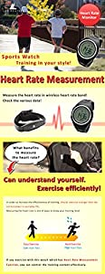[Lad Weather] Heart Rate Monitor Watches Calorie Exercise / Walking Running Outdoor Men's Wrist Sports Watches