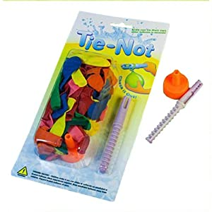 Tie-Not Water Balloons with Nozzle and Knotter with 100 Bonus Balloons from Tie-Not Inc