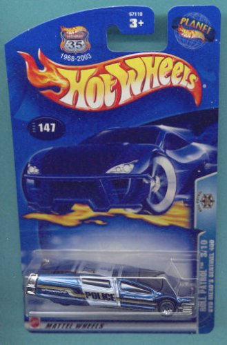 Hot Wheels 2003 1:64 Scale Blue & White Roll Patrol Syd Means Sentinel Police Die Cast Car #147 - 1