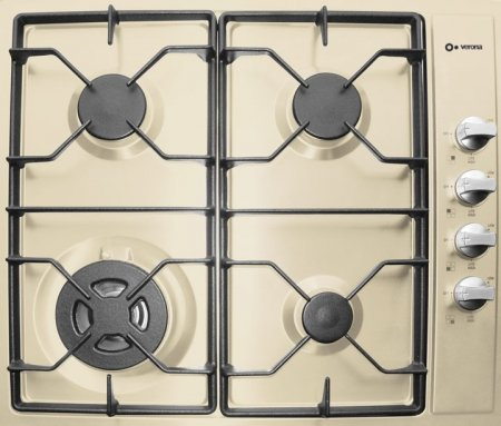 "24"" Gas Cooktop 4 Sealed Burners Electric Ignition Lp Conversion Kit Included:"