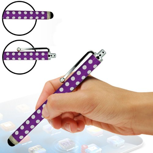 ONX3 Alcatel One Touch Star 6010d Polka Aluminium kapazitiver Stylus (Purple)