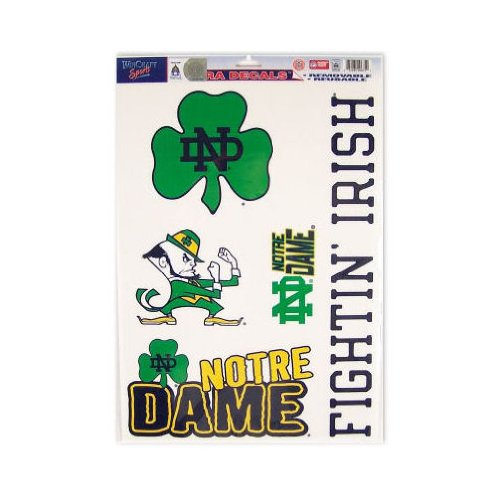 Notre Dame Fighting Irish Official Ncaa 11 Inch X 17 Inch Car Window Cling Decal front-656417