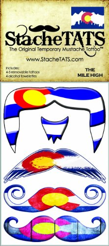 Stachetats the mile high temporary mustache tattoo health for Mustache temporary tattoos