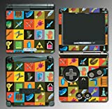 Legend of Zelda Link Retro 8-Bit Item Icon Video Game Vinyl Decal Cover Skin Protector for Nintendo GBA SP Gameboy Advance Game Boy