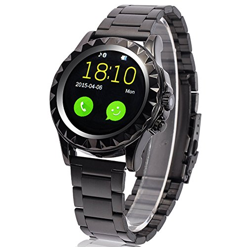 Lemfo Smart Watch Bluetooth Wristwatch IPS Heart Rate Monitor Pedometer Phone Mate for Android Ios (Black)