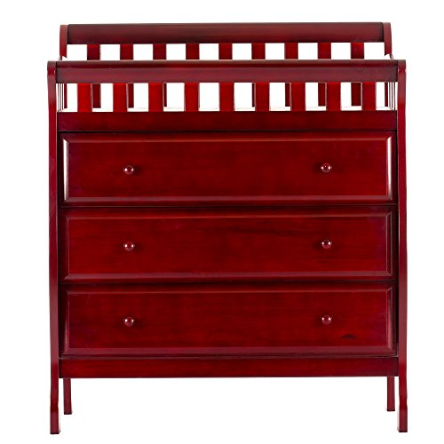 Dream On Me Marcus Changing Table and Dresser, Cherry, Small (Dream On Me Dresser Espresso compare prices)