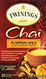 Twinings Chai Tea, Pumpkin Spice, 20 Count