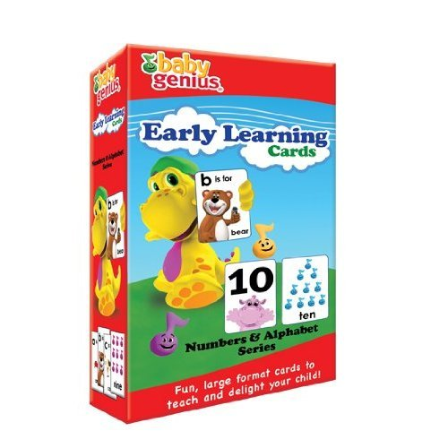 Baby Genius Early Learning Cards - Numbers and Alphabet