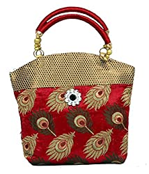 Kuber Industries Women's Mini Handbag 10*10 Inches (Red)