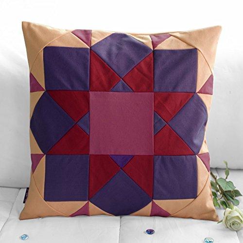 [Endlosen Horizont]handgemachte dekorative Kissen einzigartige Gitterkissen 48cm -