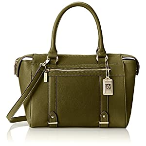 Anne Klein Military Luxe Top Handle Satchel,Olive,One Size