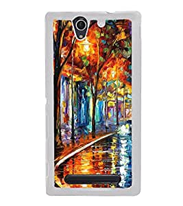 Colourful Painting 2D Hard Polycarbonate Designer Back Case Cover for Sony Xperia C3 Dual :: Sony Xperia C3 Dual D2502