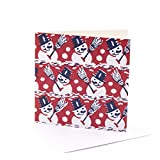 V&A Christmas Cards - Smiling Snowmen (Pack of 10)