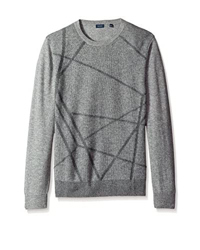 Thirty Five Kent Men's Intarsia Cashmere Crew Neck Sweater