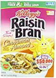 Kelloggs Cereal, Raisin Bran Cinnamon Almond, 14.2 Ounce (Pack of 10)