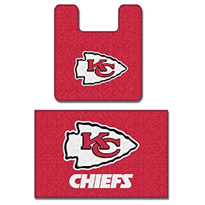 Kansas City Chiefs Two Piece Bath Rug Set