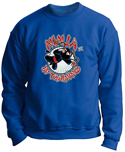 Ninja Sword Ninja Mask Ninja Stars Ninja in Training Premium Crewneck Sweatshirt Small Royal (Big Mouth Toys The Ninja Mug compare prices)