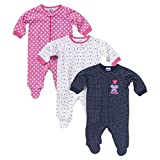 Gerber Baby Girls' 3 Pack Sleep N' Play - Butterfly