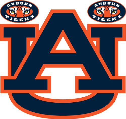 NCAA Auburn Tigers - 3 AU Large Wall Accent Murals / Stickers at Amazon.com