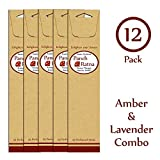 Panchratan Perfumed Charcoal Incense Sticks ( Pack Of 12, 23cms, Amber And Lavender Fragrance )