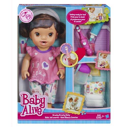 Baby Alive Brushy Brushy Baby Doll Brunette New