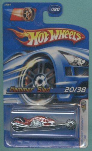 Mattel Hot Wheels 2006 First Editions 1:64 Scale Red Hammer Sled Die Cast Car #020 - 1