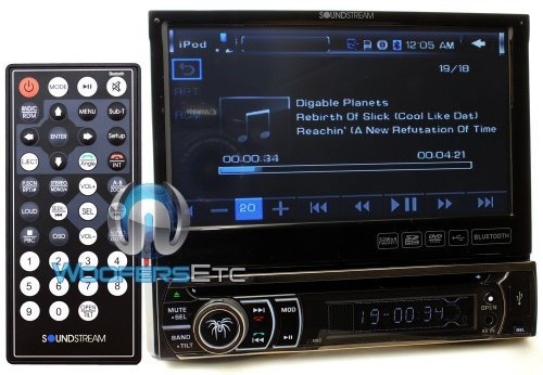 """Soundstream Vir-7832Bi 7"""" Lcd / Dvd Receiver With 32Gb Usb / Sd Inputs And Bluetooth"""