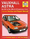 Vauxhall Astra (91-98) Service Repair Manual (Haynes Service & Repair Manual)