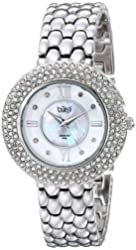 Burgi Women's BUR125SS Crystal and Diamond-Accented Stainless Steel Watch