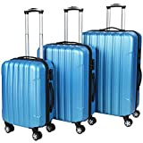 Vojagor TRSE06 Set of 3 Hard Shell Suitcases DIFFERENT COLOURS (Blue)