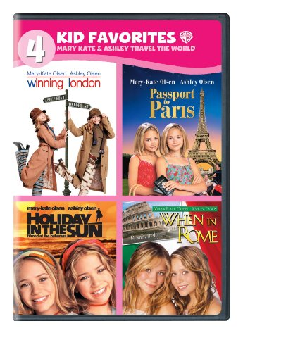 DVD : 4 Kid Favorites: Mary-Kate & Ashley Travel the World (Boxed Set, 4 Disc)