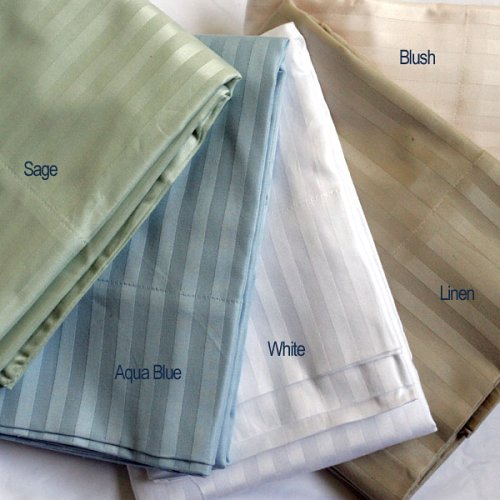 Pillow Case Set 600tc Sateen Stripe 100% Egyptian Cotton Queen/standard Size Linen