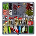 129 Pcs in a Box Fishing Lures Tackle Soft Hard Bait Sequins Bait Bionic Fishing Lures for Fishing Lovers by Ecome