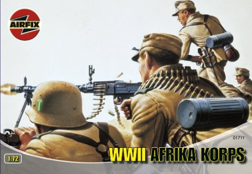 Airfix A01711 1:72 Scale Afrika Corps Figures Classic Kit Series 1 - 1