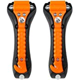 LifeHammer CR-224408 Orange 2 Pack Safety Hammer Classic Auto Escape Tool (Glow In The Dark)
