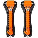 LifeHammer 2 Pack Safety Hammer Classic Auto Escape Tool Orange Glow In The Dark