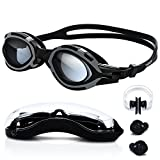 Swimming Goggles - High-Definition Clear [Anti Fog] [UV Protection] [Anti Shatter] [No Leaking] Silicone Straps Quick Release Technology Triathlon Surfing Protection Case Men Women Boy by TURATA®