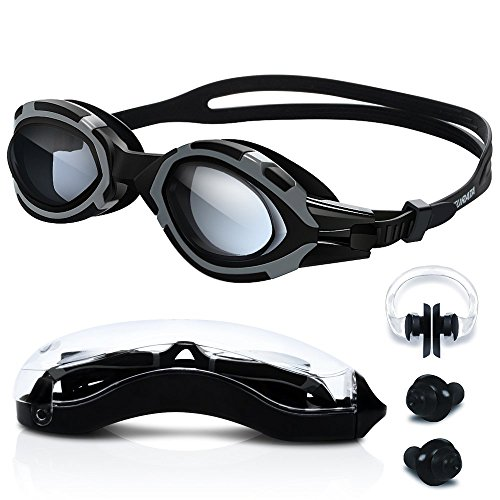 Schwimmbrille - Turata 100% UV-Schutz + Antibeschlag-Schutz + Kein Leck High-Definition Klare Schwimmbrille Surfen Schutzhülle