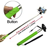 Looq System DG-L001 Third Generation Extendable Selfie Monopod for Android and iOS Smart Phones - Green