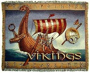 Vikings Viking Ships Throw Blanket Afghan Norse Afghan New Gift