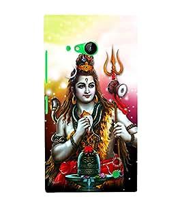 Shiv Shankar Cute Fashion 3D Hard Polycarbonate Designer Back Case Cover for Nokia Lumia 730 Dual SIM :: Nokia Lumia 730 Dual SIM RM-1040